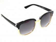 OCCHIALI da sole donna nere oro dorate lenti ovali sexy sunglasses темные F40