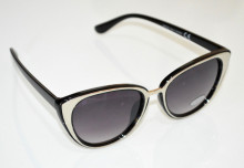 OCCHIALI da SOLE donna NERI argento lenti ovali sunglasses темные очки BB28