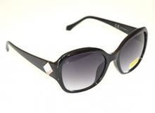 OCCHIALI da SOLE donna NERO cristallo BIANCO lenti ovali sunglasses lunettes E25