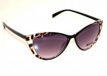 OCCHIALI da SOLE neri marrone donna maculate leopardate lenti Sunglasses G6
