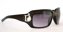 OCCHIALI da SOLE NERI sexy donna D metallo eleganti argento lenti sunglasses lunettes 60