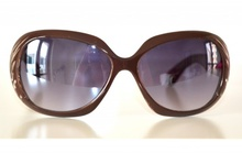 Occhiali donna da sole marroni lenti ovali zebrate sunglasses gafas темные очки solglasögon G20