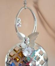 ORECCHINI donna ARGENTO CRISTALLI colorati multicolore pendenti strass farfalle Earrings Ohrringe H38
