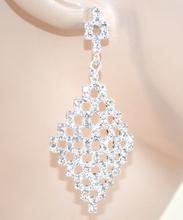 ORECCHINI donna ARGENTO eleganti cristalli STRASS sposa cerimonia boucles 25X