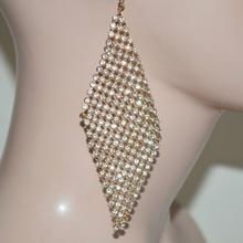 ORECCHINI donna strass cristalli luccicanti eleganti cerimonia sposa ORO/ DORATO 314