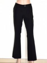 PANTALONE NERO donna made in Italy elegante cerimonia classico trousers G82