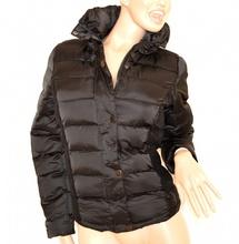 huge selection of 02792 a554a Piumino donna NERO giubbotto ricamato giubbino imbottito giaccone sexy  jacket 80