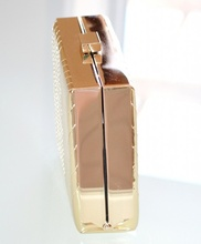 POCHETTE donna ORO elegante borsa metallizzata borsello cerimonia da sera H10