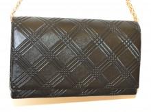 POCHETTE NERA donna borsa borsello clutch bag tracolla oro borsetta da sera G72