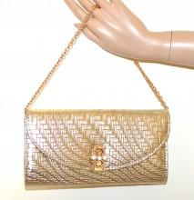 POCHETTE ORO donna borsello dorato metallizzata borsa cristalli clutch bag G75