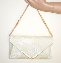 POCHETTE PIZZO AVORIO PANNA borsello borsa donna ricamata clutch borsetta elegante G55