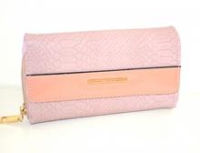 PORTAFOGLIO ROSA borsello portamonete donna pochette ecopelle clutch wallet G28