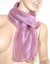 SCIARPA donna ROSA GLICINE maxi foulard pashmina sciarpetta metallizzata scarf tinta unita 15