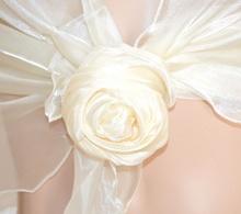STOLA AVORIO maxi coprispalle foulard donna velo elegante cerimonia abito vestito F5
