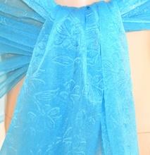 STOLA AZZURRA TURCHESE coprispalle donna foulard  scialle seta velato elegante  A24