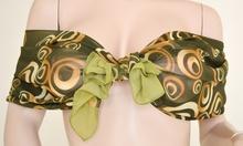 Stola Coprispalle donna elegante per abito da sera\cerimonia verde con cerchi