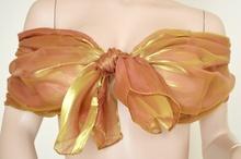 Stola Coprispalle donna oro\bronzo metallizzato elegante per abito da sera\cerimonia