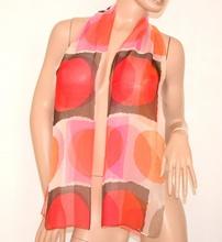 STOLA donna rosa rosso corallo bronzo beige coprispalle foulard seta velata cerimonia 160Q
