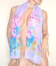 STOLA foulard LILLA GLICINE fantasia velata coprispalle elegante cerimonia A42