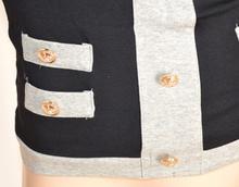 TOP donna canotta NERO GRIGIO maglia sottogiacca sexy maglietta bustino elegante E115