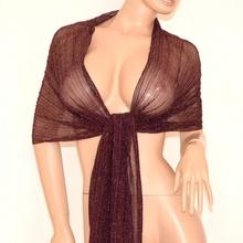 STOLA sciarpa VIOLA coprispalle donna foulard shimmer x abito cerimonia trasparente 150