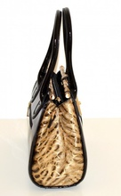 BORSA NERA VERNICE lucida ORO pelle cocco latex pvc ELEGANTE bauletto donna sac сумка 35X