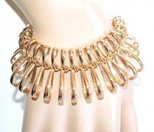 BRACCIALE donna oro dorato semi rigido ondulato elegante cerimonia bracelet A84