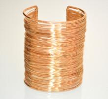 BRACCIALE ORO rigido donna multi fili schiava etnico dorato alto polsiera bracelet 840