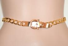 CINTURA ORO donna catena anelli dorata cinta gioiello metallo elegante gold belt Gürtel G66