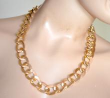 COLLANA donna ORO catena dorata girocollo anelli lucidi catenina golden chain A45