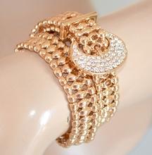 COLLANA donna ORO COLLARINO dorato elegante BRACCIALE sexy girocollo strass 450