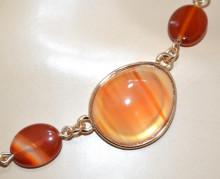 COLLANA PIETRE AMBRA BRONZO donna ORO girocollo ciondoli collier catena anelli collier N90