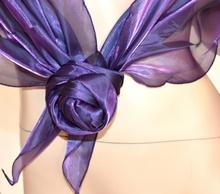 Coprispalle foulard maxi cerimonia da sera donna metallizzato x abito vestito elegante viola F5