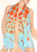 Coprispalle stola donna foulard seta velato trasparente cerimonia elegante azzurro x abito vestito da sera floreale 130A