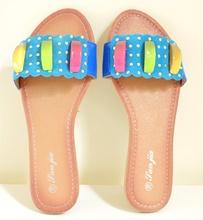 ... INFRADITO AZZURRI donna sandali ciabatte basse celesti turchesi oro scarpe  estive E55. prev. next. prev 5575f529e97