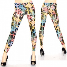 Leggings nero pantacollant fuseaux donna pantalone leggins skinny sexy croci colorate 40