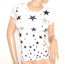 MAGLIETTA BIANCA donna t-shirt maglia manica corta cotone sottogiacca A22