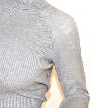 MAGLIETTA donna GRIGIO collo alto manica lunga maglia sottogiacca ricamata F100