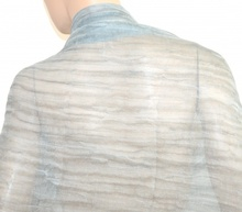 MAXI STOLA donna 80% seta coprispalle ARGENTO GRIGIO cerimonia velata elegante foulard scialle abito da sera H10