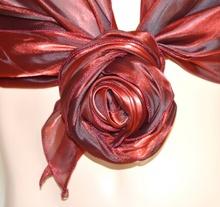 MAXI STOLA donna BORDEAUX AMARANTO cerimonia foulard elegante coprispalle x abito\vestito F5