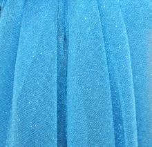 MAXI STOLA donna foulard BLU da cerimonia COPRISPALLE matrimonio ELEGANTE shimmers SETA velata 60X