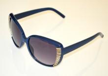 OCCHIALI da SOLE donna BLU ORO dorati lenti ovali темные очки sunglasses BB22
