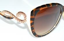 OCCHIALI da sole donna marrone neri oro maculati lenti ovali serpente leopardati F10