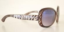 Occhiali da sole donna marrone ovali zebrati lenti protezione solare UV400