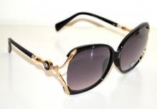 OCCHIALI da SOLE donna NERI ORO dorati lenti ovali aste metallo sunglasses G16