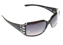 OCCHIALI da sole donna neri strass brillantini cristalli lunettes sunglasses F60