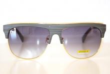 Occhiali uomo da sole grigio profilo metallo oro man sunglasses gafas de sol Z4