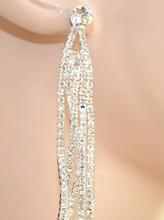 ORECCHINI donna CRISTALLI argento strass pendenti ELEGANTI cerimonia sposa boucles 1090