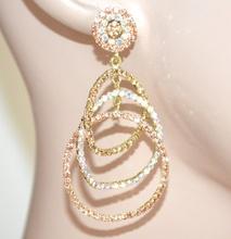 ORECCHINI ORO CORALLO AMBRA cerchi pendenti donna cristalli  strass  cerimonia earrings E110