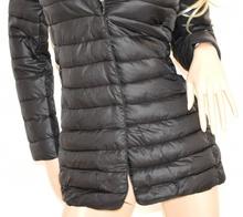 PIUMINO NERO cappotto donna imbottito giaccone giubbotto cappottino куртка 70